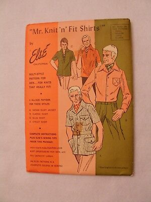 Vintage Sewing Pattern by Else California Mr. Knit 'n' Fit Shirts Complete Uncut