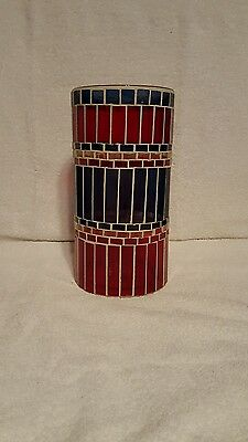 Longaberger 9 3/4 Inch Tall Stained Glass Type Vase