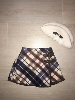 Janie & Jack Toddler Girls Plaid Skirt With Matching Hat