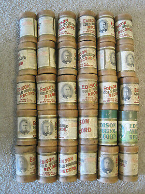 EDISON CYLINDER Lot of  30 Cylinders with Containers, Incl. THE DARKIES DREAM