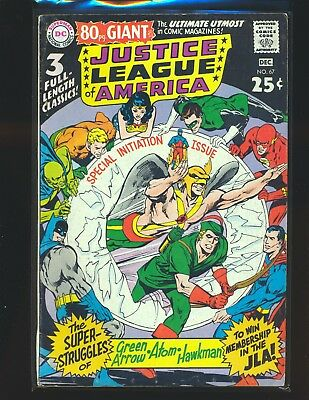 Justice League of America # 67 - Neal Adams cover VG+ Cond.