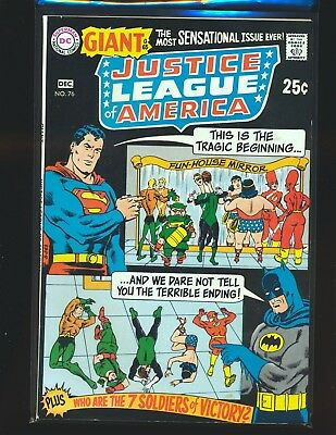 Justice League of America # 76 Fine Cond. stains on front cover