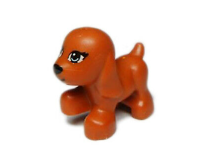 LEGO Friends Dark Orange Dog Walking Blue Eyes Puppy Animal Pet 41011 3942 3188
