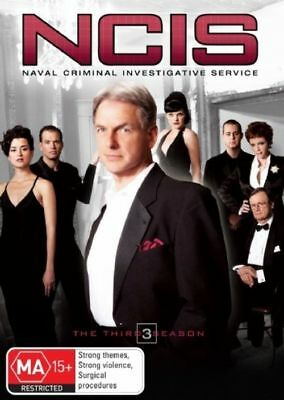 W2 BRAND NEW SEALED NCIS : Season 3 (DVD, 2007, 6-Disc Set)