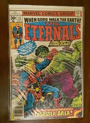 The Eternals #15  (Sep,1977) Bagged and Boarded for 20+ years.