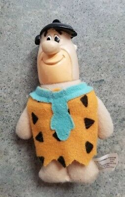 Hanna Barbera Fred Flintstone Figure Toy Cloth Soft Body