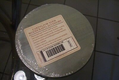 """Longaberger 5"""" Round Keeping Basket Wood Lid in Sage Green Mint Condition"""