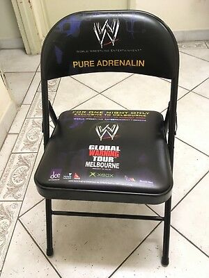 Wwe 2002 Globalwarning Branded Chairs X 4