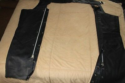 HARLEY-DAVIDSON Leather Chaps, Small