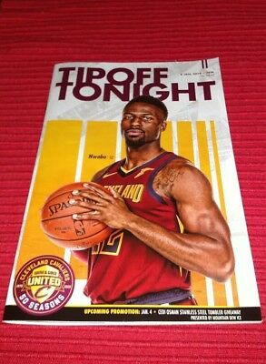 8141e2040af 2018-19 CLEVELAND CAVALIERS TIPOFF TONIGHT PROGRAM 01/02/2019 David Nwaba