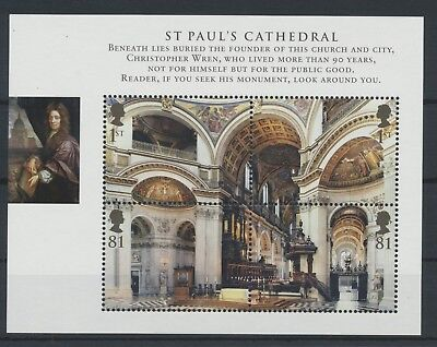 GB Miniature Sheet MS 2847 Block 44 St. Pauls Cathedral MNH **