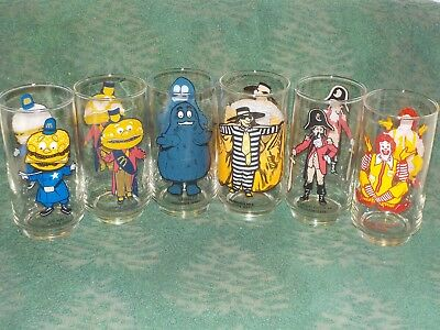 Vintage 1976 McDonald's Collector Series Glasses Complete Set of 6 NEW !!!
