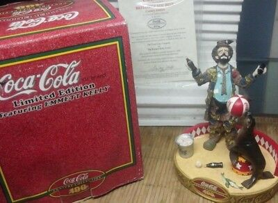 """Coca-Cola Emmett Kelly """"Refreshes you Best II"""" Limited Edition Figurine"""
