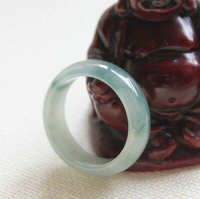 "Size 8 3/4 ** CERTIFIED Natural ""A"" Icy Light Green Jadeite JADE RING #R227"