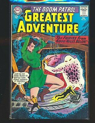 My Greatest Adventure # 85 Doom Patrol VG Cond cover detached from bottom staple