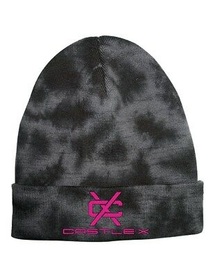 Castle X Tundra Roll-Over Beanie Hat Hot Pink