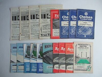 Tottenham Hotspur 1950's Away Football Programmes Spurs
