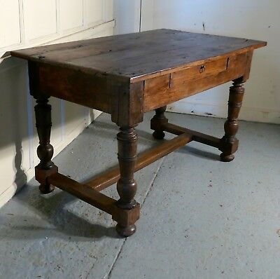 18th Century Rustic French Oak Table