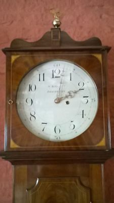 Beautiful Large Regency Wall Tavern Longcase Wall Clock S Kellett Bredbury