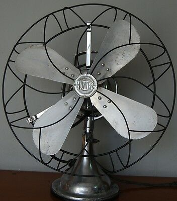 Ventilatore Antico Hunter New York OSCILLANTE - 1920 - Marelli