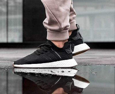 1fc19e43643bb Adidas Nmd R 2 Ultra Boost R2 Mens Black Shoes Running Japan Pk Gazelle  By9696