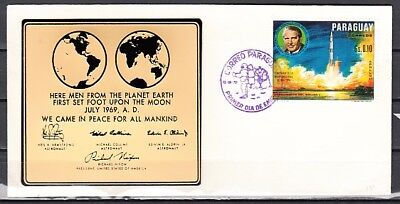 Paraguay, Scott cat. 1232 only. Apollo value w/ Plastic Cachet. First day cover