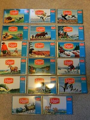 Schmidt Beer scene flat sheets qty 17 all different from Associated , Evansville