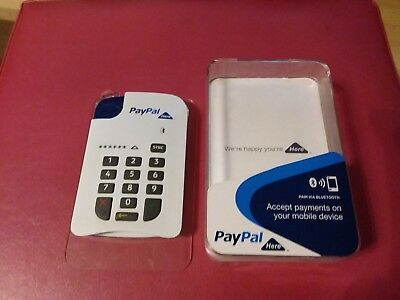 Paypal Here Mobile Card Reader In Original Case With Charging Cable Good Cond