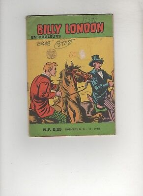 BD BILLY LONDON N°08 La mine abandonnée 1960 Editions des Remparts