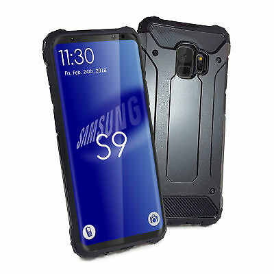 TUFF LUV Tough Armour Layered Case for Samsung Galaxy S9 - Black