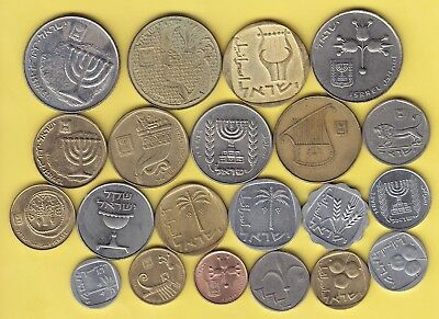 Israel  nice lot of 21 coins,,,,,,,,,,,,,,,,,,,,,,,15