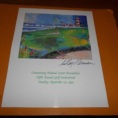 LeRoy Neiman was an American artist Hand Signed 11 x 13.5 Poster