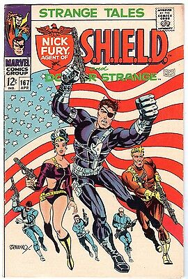Strange Tales #167 with Nick Fury Agent of SHIELD & Dr. Strange, Very Fine Cond'