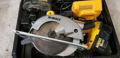 dewalt dw936 circular saw 18v 2x batteries