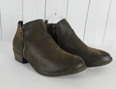 11 NEW WOMENS PIERRE DUMAS TAUPE BANDED ALMOND-TOE HEEL BOOTIES SIZE 10