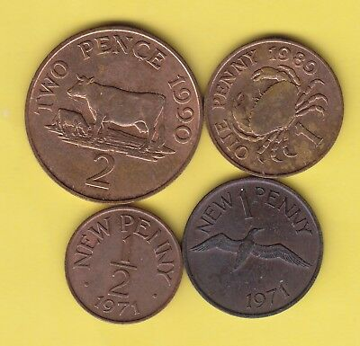 Guernsey  small lot of 4 coins........................20