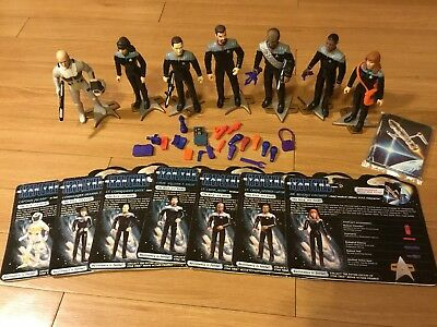 Star Trek TNG First Contact Movie 7 Crew Figures Collection by Playmates 1996