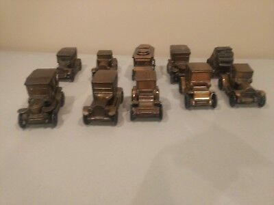 Vintage Brass 10 - Car and stage coach Coin Banks  Banthrico inc Chicago IL