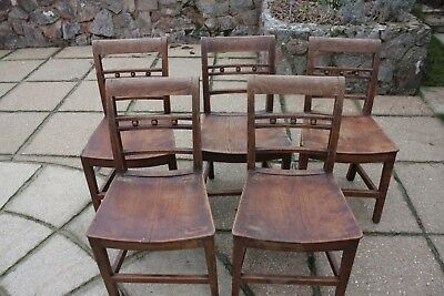 5 Elm Dining Chairs The Double Bar Backs