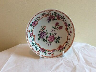 18th Century Saucer English Soft Paste Porcelain Hand painted