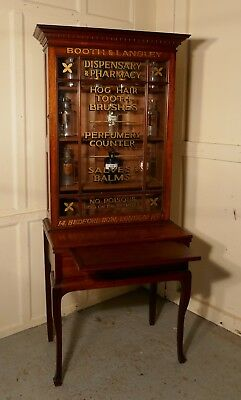 Victorian Mahogany Sign Painted Chemist's Cupboard