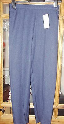 Womens classic navy blue pull on trousers in size 8 from Marks and Spencer new