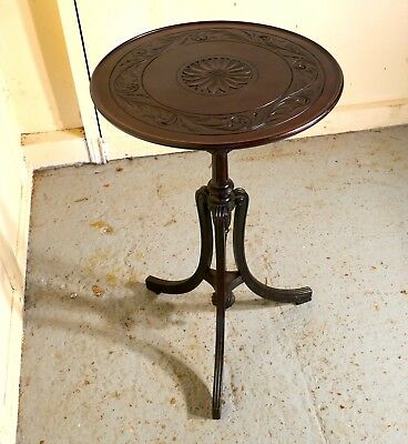 Carved Art Nouveau Mahogany Wine Table by Bulstrode of Cambridge