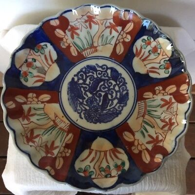 19th Century Japanese Antique Hand Painted Imari Porcelain plate 8 5/8""