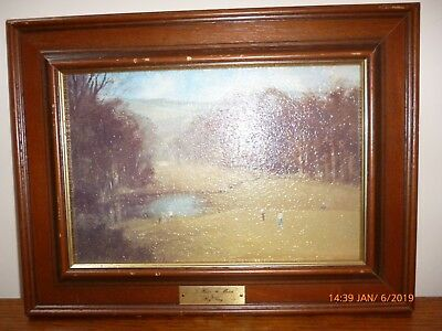Golfing Framed Picture To Halve The Match  By Roy Perry