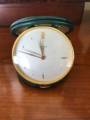 Luxor, Swiss Made, Mid Century Travel Clock. WORKING!