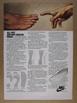 1981 Nike Running Shoes Feet Arch Pronation Research vintage print Ad