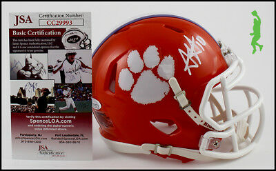 Adam Humphries Autographed Signed Clemson Mini Football Helmet Jsa Coa
