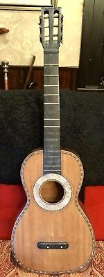 Pre 1850 Romantic Guitar With Jerome Tuners As On Early Martin Guitars With Case