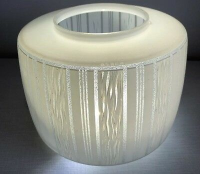 Mid Century Vintage 1950s 60s Space Age Atomic White Glass Pendant Lamp Shade